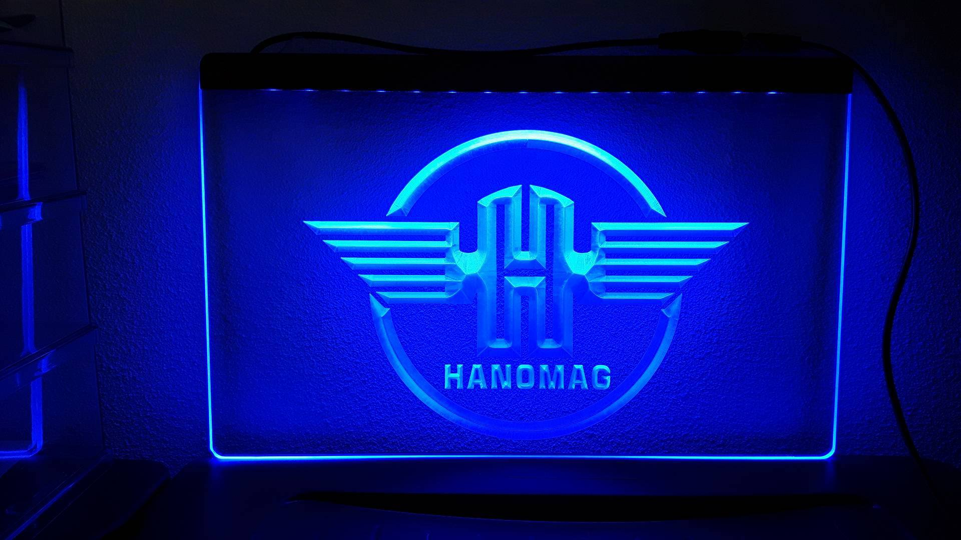 Hanomag tractor logo rond 3d led verlichting americanshop for Tractor verlichting