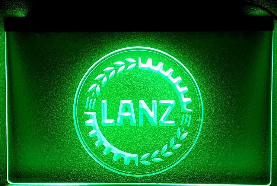 Lanz landbouw machine tractor 3d logo led reclame for Tractor verlichting