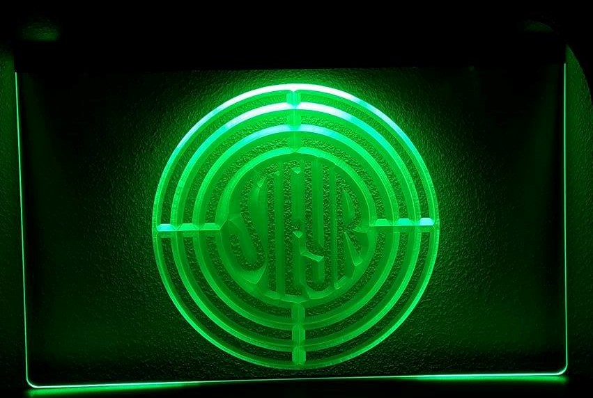 Steyr tractor logo 3d led verlichting steijr americanshop for Tractor verlichting