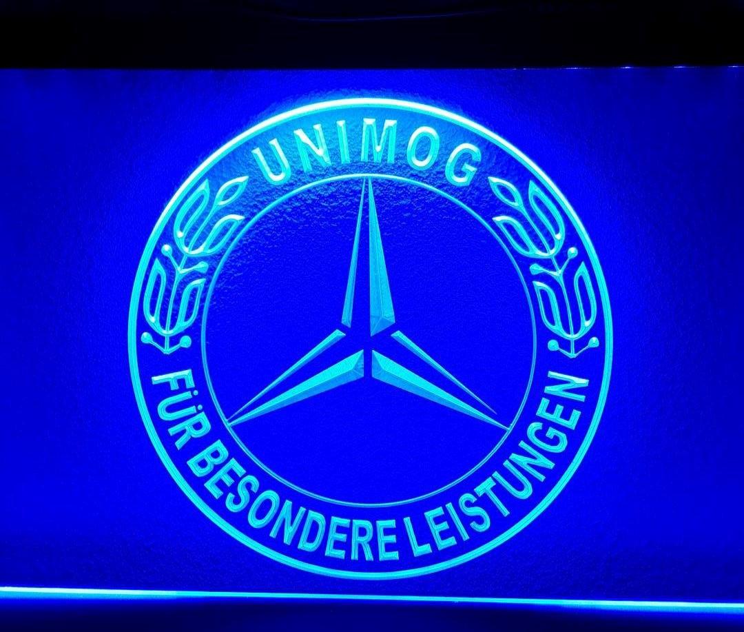 UNIMOG LANDBOUW VOERTUIG (STER) LOGO 3D LED RECLAME VERLICHTING ...