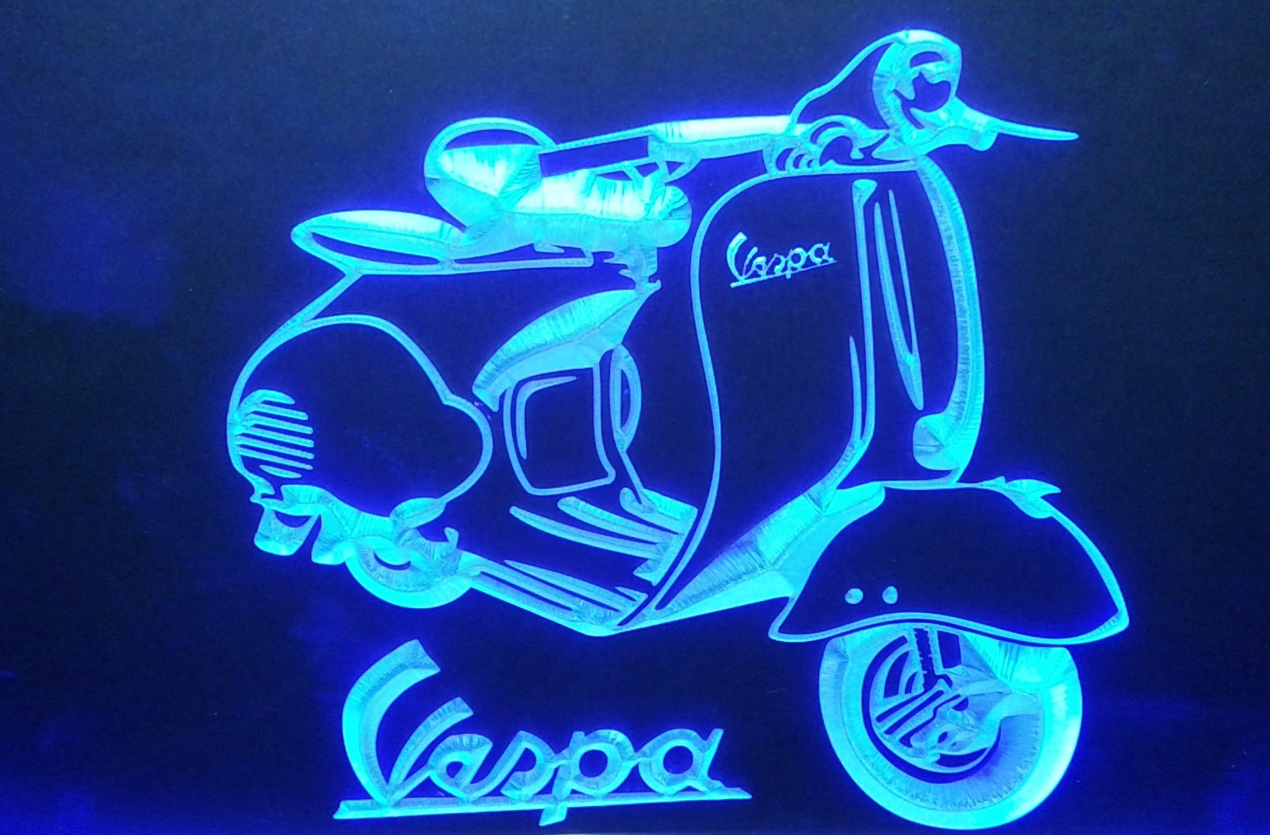 VESPA SCOOTER 3D Led reclame verlichting   Americanshop