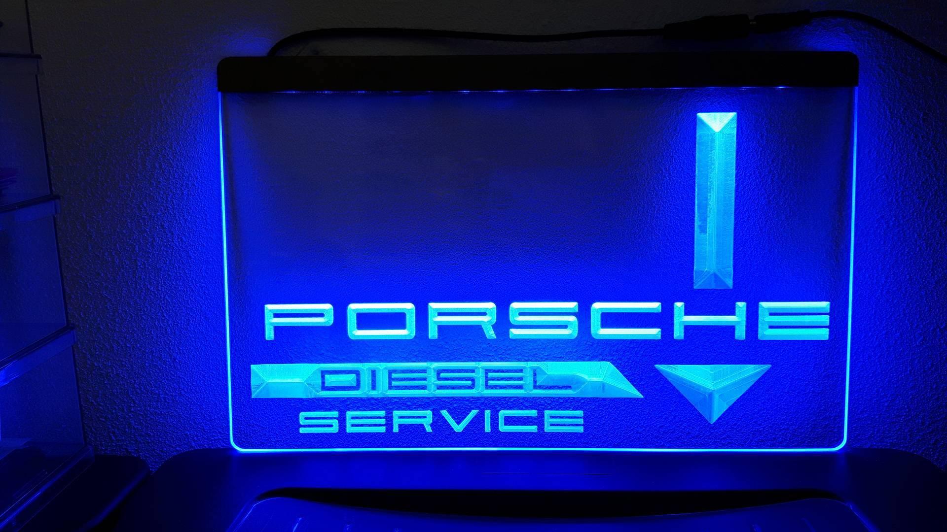 Porsche diesel tractor 3d logo led reclame verlichting for Tractor verlichting