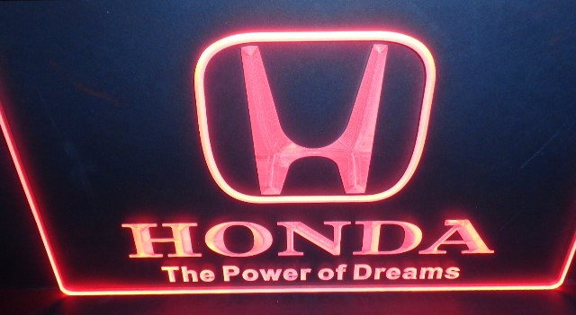 Honda The Power Of Dreams Auto Logo 3d Led Reclame Verlichting
