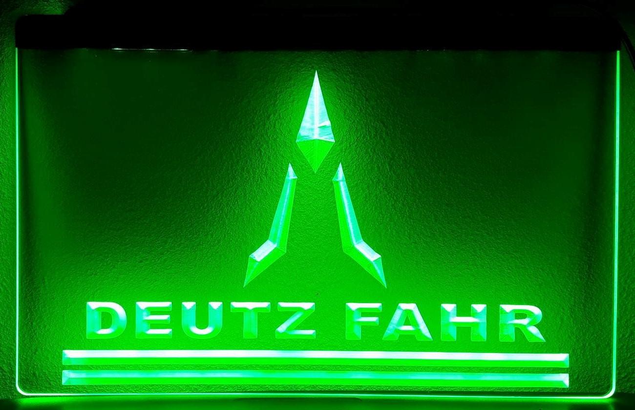 Deutz fahr tractor logo 3d led reclame verlichting for Tractor verlichting