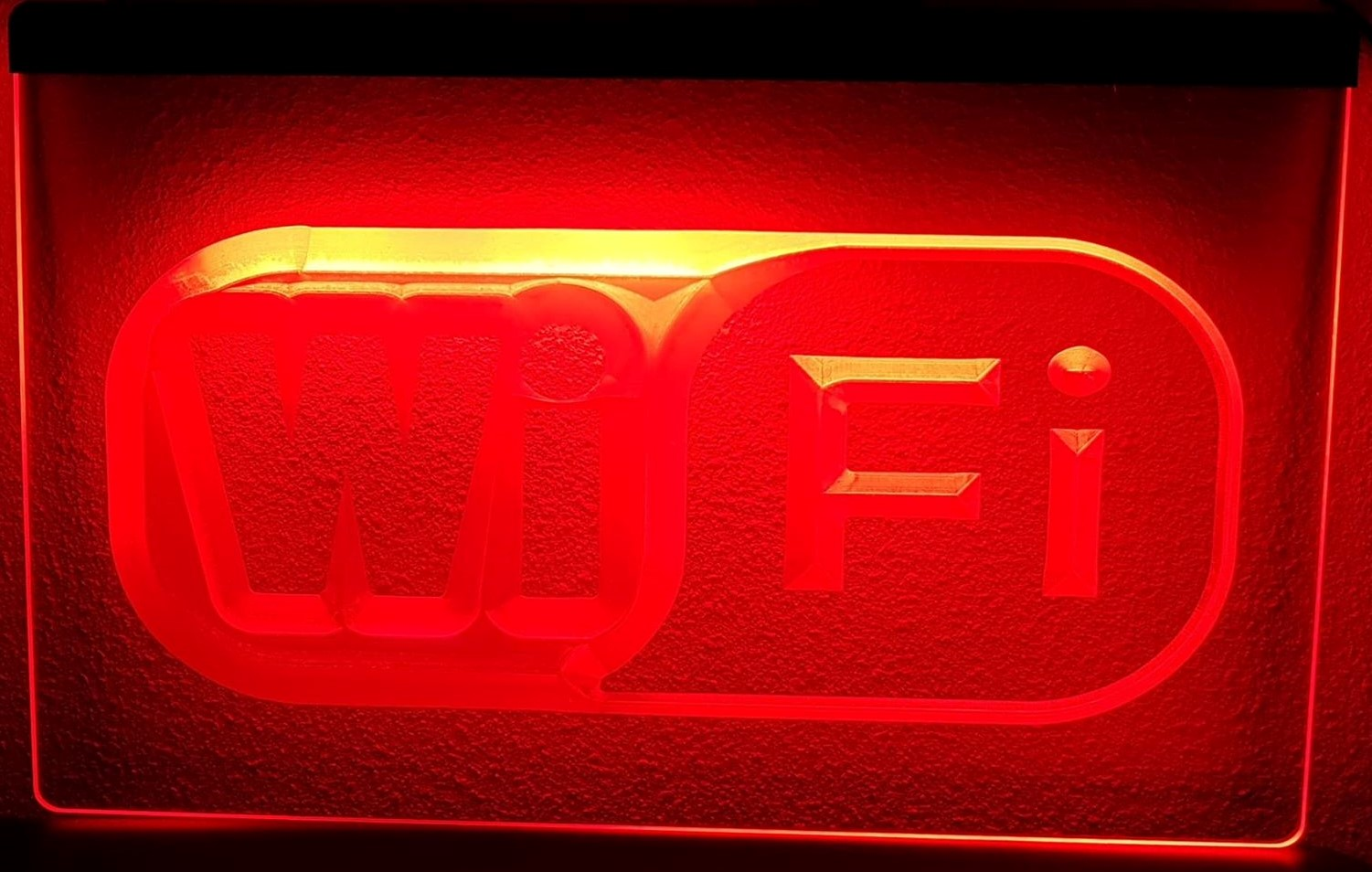 WIFI reclame 3D LED RECLAME VERLICHTING LAMP | Americanshop
