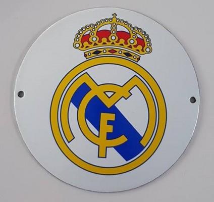 voetbal fc real madrid logo emaillen bord americanshop