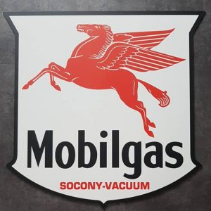 MOBILGAS PEGASUS SOCONY VACUUM ALUMINIUM SIGN BORD