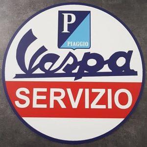 VESPA PIAGGIO SERVIZIO ALUMINIUM SIGN BORD