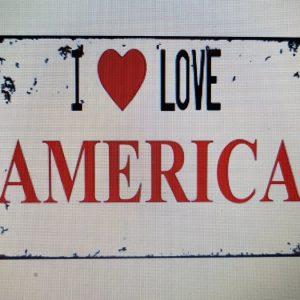 I LOVE AMERICA  METALEN BORD