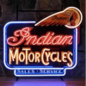 INDIAN MOTORCYCLES SALES & SERVICE NEON DECORATIE VERLICHTING