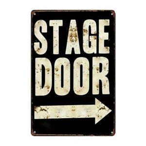 STAGE DOOR ——> GARAGE  METALEN BORD