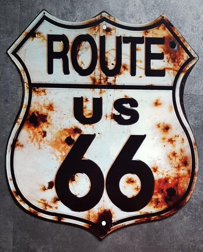Zwaar Route 66 Metalen Decoratie Bord