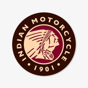 INDIAN MOTORCYCLE 1901 ROND RECLAME DECORATIE BORD