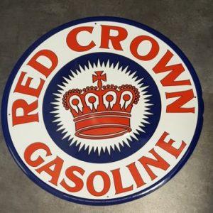 RED CROWN GASOLINE METALEN BORD XL